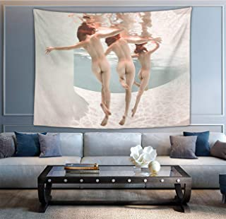 NiYoung Tapestry, Sexy Women Girls Butt Under Sea Nude Art Tapestries Wall Hanging Tapestry for Living Room Bedroom Dorm Room Beach Picnic Mat (60 x 70 Inches)