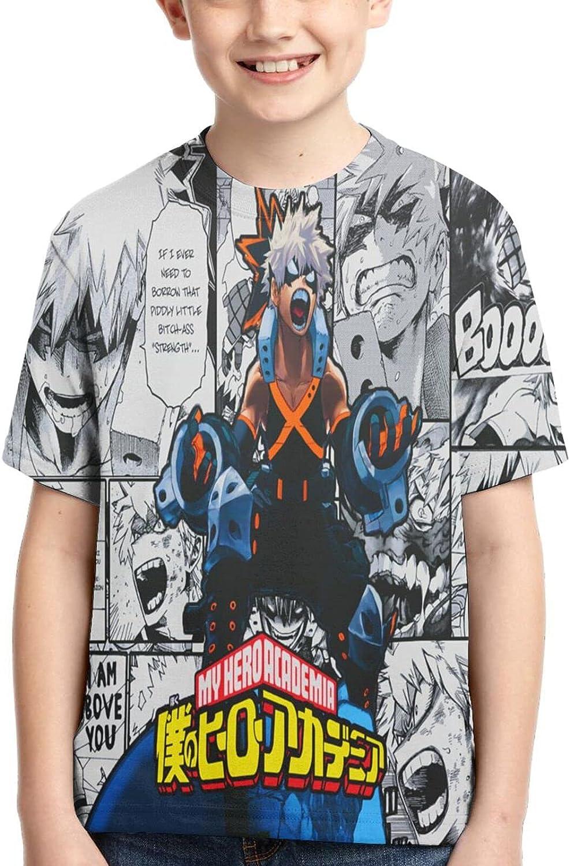 My H-Ero Academia Shirts Crew Neck Kids Anime T-Shirt Graphic T Shirts Tops