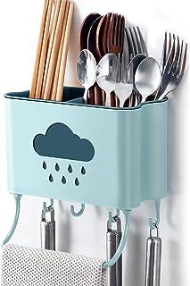 IWTTWY Cuisine Rangement et Organisation Boîte Mural Support de Cuisine Ustensiles et Accessoires (Bleu)