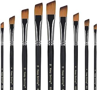 Conjunto de pinceles Pincel de artista Pincel Hecho de nylon de primera calidad para pintura acrílica Pintura de acuarela Pintura al óleo
