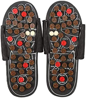 Men's Summer Massage Slippers,Foot Massage Slippers,Reflexology Foot Slipper 180° Rotatable Foot Massage to Reduce Foot Pain,Promote Blood Circulation Foot Care