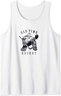 Old Time Hockey Vintage Retro Original six Ice Goalie Mask Tank Top