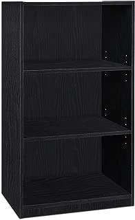 FURINNO JAYA Simple Home 3-Tier Adjustable Shelf Bookcase, Black