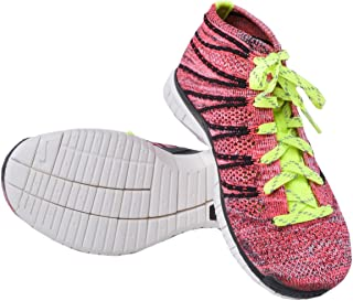 Free Flyknit Chukka Men Round Toe Synthetic Pink Sneakers