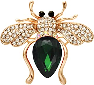 SENFAI Six Colors Lovely Alloy Rhinestone Bee Animal Brooch Jewelry Brooches Pins