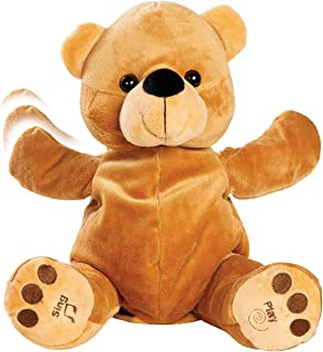 Bundaloo Clapping and Singing Bear - 11 x 6-Inch Talking Stuffed Animal for Kids - Musical Toys for Babies and Toddlers - ...