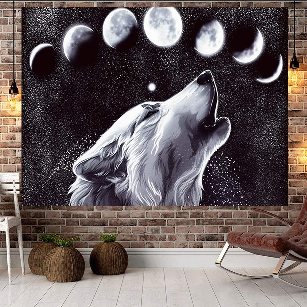 JIFAN Nordic Wolf Background Decoration Hanging Cloth Home trust Cheap sale