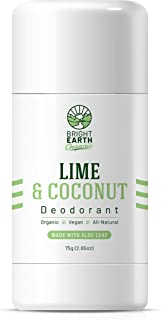 Bright Earth Organic Natural Deodorant - Magnesium and Aloe Free of Aluminum, Baking Soda, Parabens, Sulfates, Gluten, Cru...
