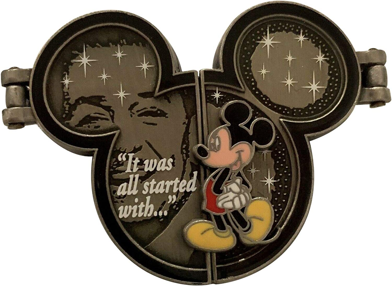 Disney Pins - It Was All Started With ... - Walt Disney and Mickey Mouse Pin 46072