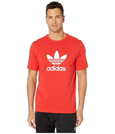 adidas Originals Trefoil Tee (Lush Red) Men