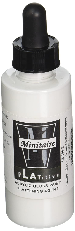 Badger Minitaire Flatitive-Gloss Acrylic Paint Flattening Agent 2 Oz. Bottle-D6-196-2
