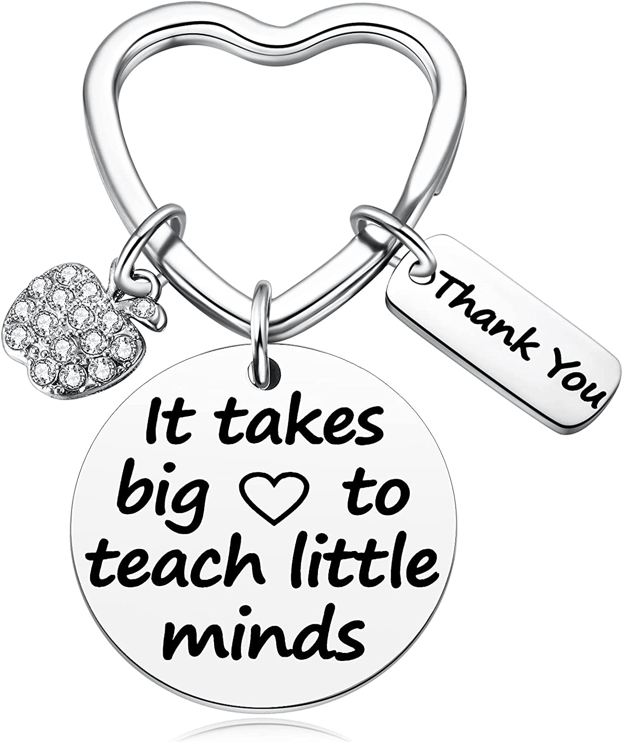 MIXJOY Teacher Appreciation Week Day Retirement School End of Year Thank You Gifts for Female Male Teacher Key Chain