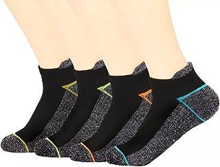 Copper Antibacterial Athletic Socks for Men and Women-Moisture Wicking, Nonslip Ankle Socks