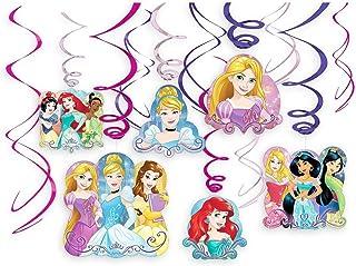 تزیینات حلق آویز حلق آویز پارچه ای بزرگ Disney Princess Dream / Spiral Ornaments (12 عدد) - تدارکات مهمانی ، تزیینات مهمانی