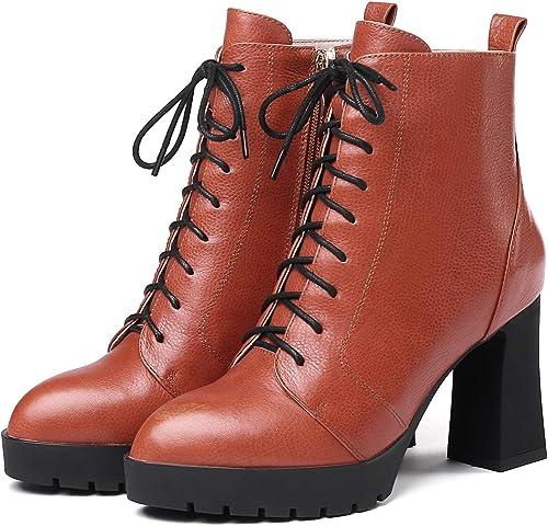 HOESCZS botas Martin botas Winter New rojo botas para mujer Super Tacón Alto Grueso con botas Cortas plataforma Impermeable Tubo Corto Martin botas zapatos De Moda