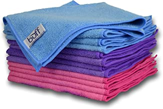 Buff Microfiber Cleaning Cloth (12 Pack) | Size 16