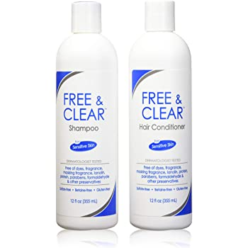 Free & Clear Set, includes Shampoo-12 Oz and Conditioner-12 Oz - One each.