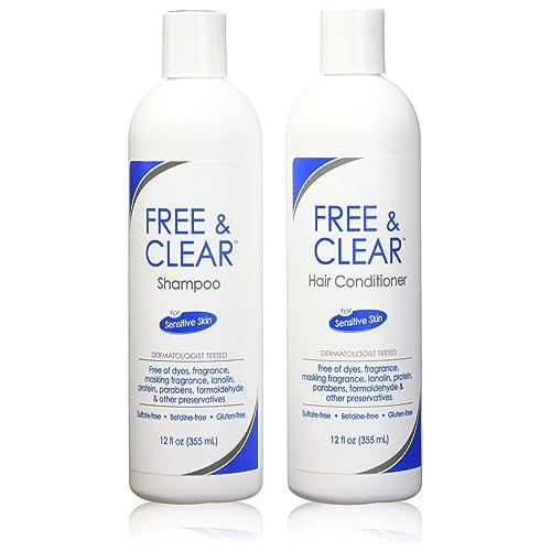 Amazon com : Free & Clear Set, includes Shampoo-12 Oz and