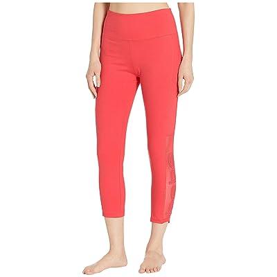 Bebe Sport Sport Applique Pants (Hibiscus) Women