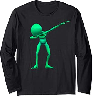 Dabbing Alien Dab UFO Lover Halloween Party Easy Costume   Long Sleeve T-Shirt