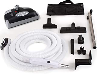Best GV Central Vacuum kit with Power Head 35 Foot Hose and Tools Designed for Beam Electrolux Nutone Hayden fits All Brands Black Head Review