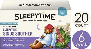 Celestial Seasonings Wellness Tea, Sleepytime Sinus Soother, 20 Count Box (Pack Of 6)