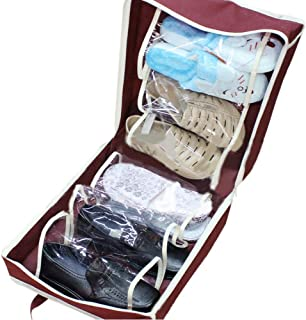 CDKJ Sac de rangement Chaussures Imperm/éable et Anti-poussi/ère avec Fermeture Sac de Chaussures de Voyage en maille portable