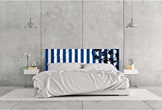 Cabecero Cama PVC Impresión Digital | Futbol Azul y Blanco 100 x 60 cm | Cabecero Original y Económico