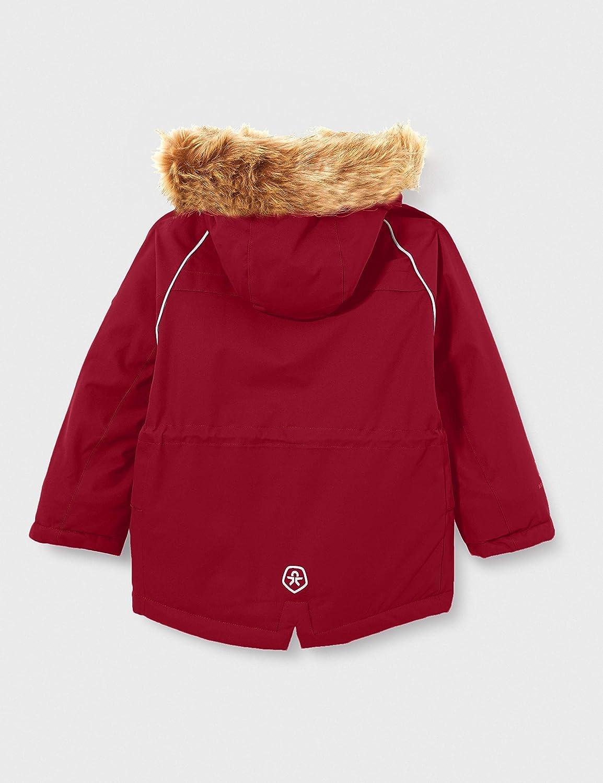 Color Kids Parka with Fake Fur Giacchetto Imbottito Bambina