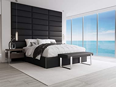 Vant Upholstered Bed Bench - Jet Black