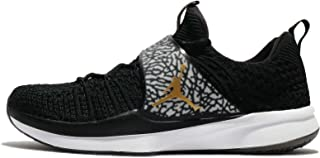 sneakers for cheap 89b5a 2d34d Jordan Men s Trainer 2 Flyknit Black Metallic Gold White Nylon Running  Shoes 12 M
