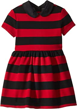 Striped Stretch Ponte Dress (Toddler)