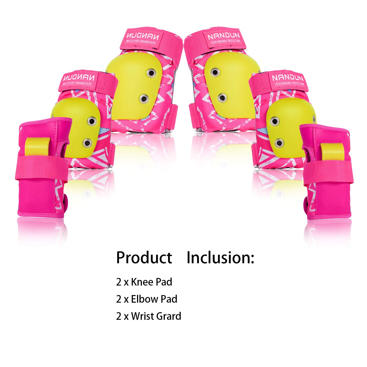 Knee-Pads Elbow-Pads Wrist-Guards for Kids Boys//girls//youth 6 in 1 Protective Gear Set for Multi Sports Skateboarding Roller Skating Inline Skate Cycling Biking BMX Bicycle Scootering(Upgraded 2.0 Pink S)