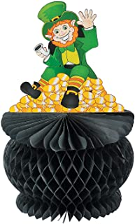 Fun Express St. Pat`s Pot of Gold Tissue Paper Centerpiece for St. Patrick`s Day Party Decor