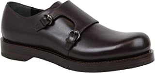 Horsebit Buckle Monk-Strap Brown Leather Dress Shoes 358272 2145