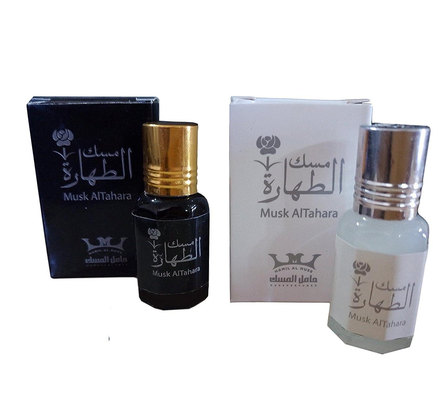 驚和らげる乳白Women Musk Al tahara Pure Saudi Altahara Perfume White & Black 10 ml Alcohol Free