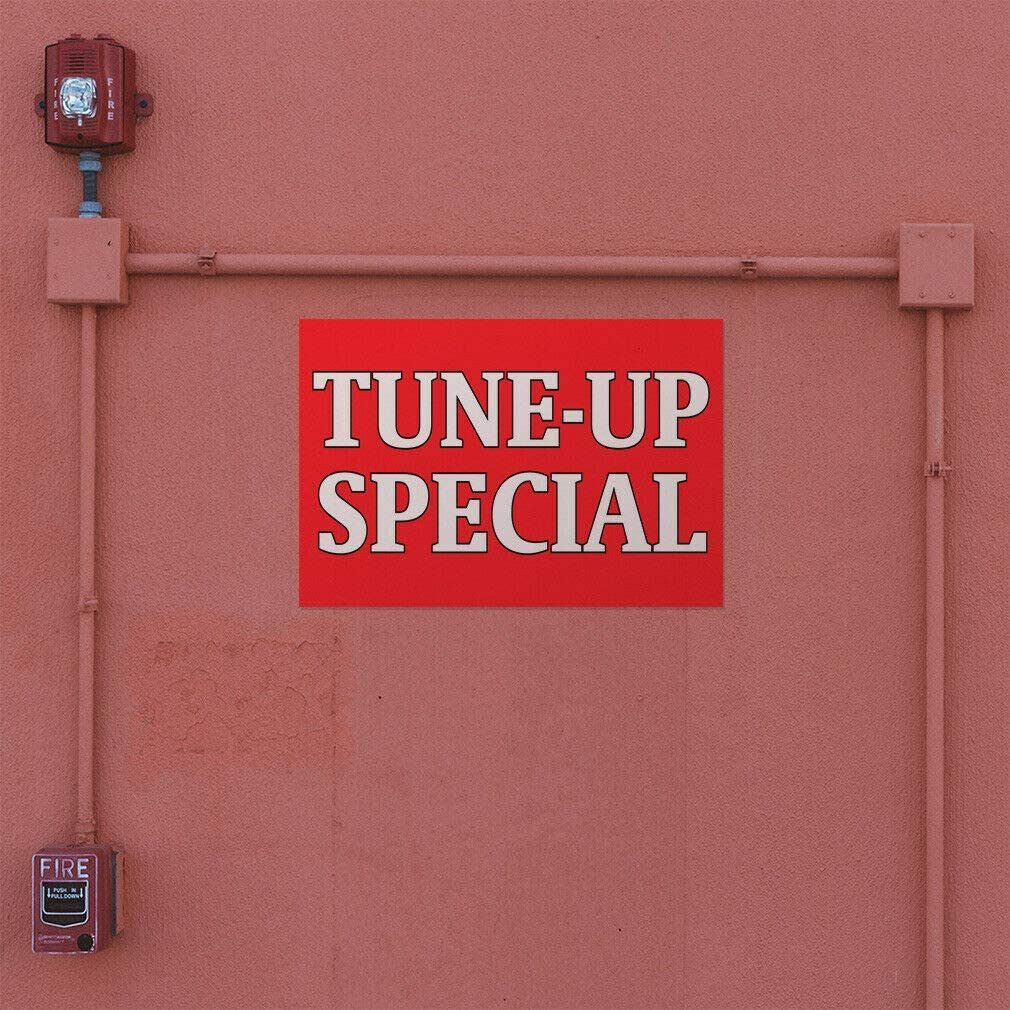 Decal Sticker Tune-Up Special #1 Automotive Tune up Outdoor Store Sign Red-40inx26in