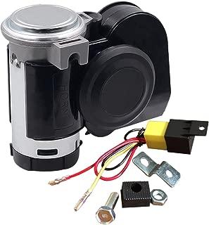 SoundOriginal 12Volt Loud Car Air Horn Big Truck Horn 125db with Automotive Relay Electric Horn for Truck Car Motorcycle (Black)