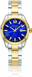 Philip Stein Women's Traveler Swiss-Quartz Watch with Two-Tone-Stainless-Steel Strap, 8 (Model: 91TG-CBLMOP-SSTG)