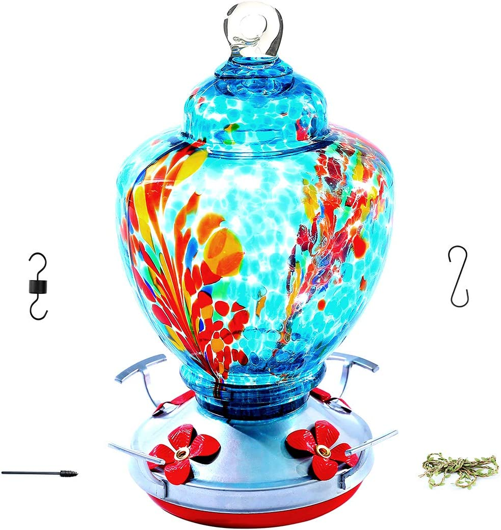 OFFicial store Upgraded Hummingbird Dedication Feeder for Outdoors Bird Glass Feeders Ea