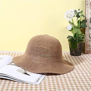 ZiWen Lu Hat Summer Korean Version of The Wave Side hat Sandals Straw Sun hat Straw hat (Color : Brown, Size : M56-58cm)