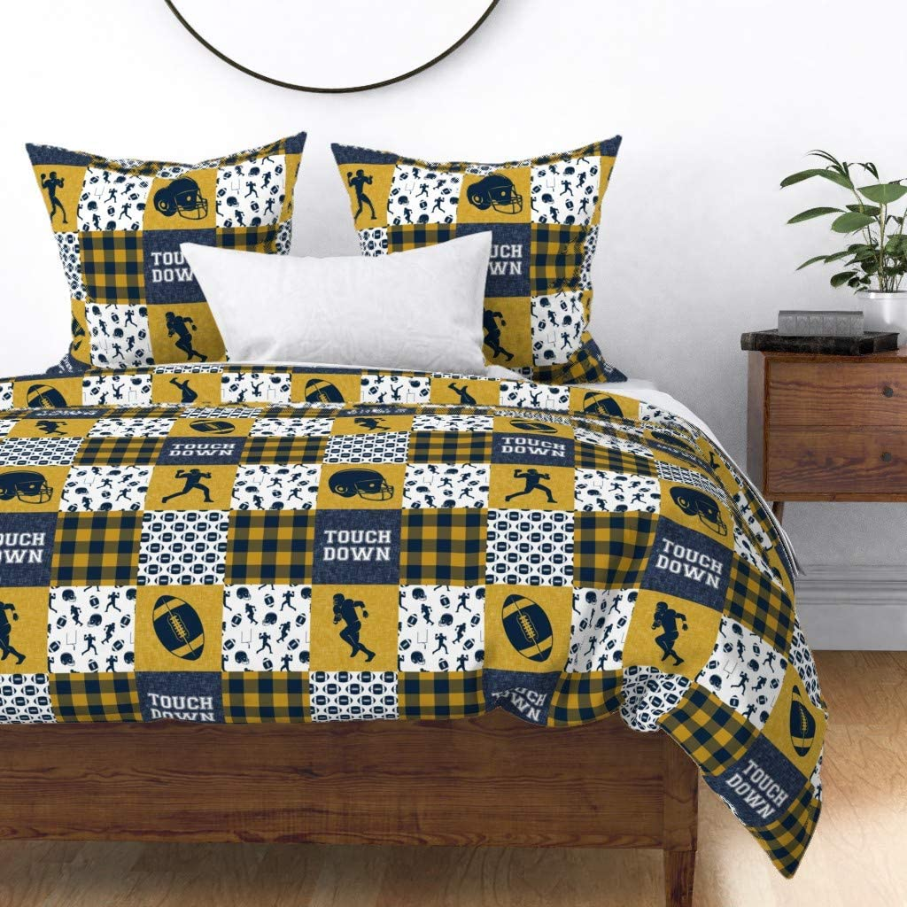 Max 64% OFF Roostery Duvet Cover Baby Boy Football Arrow Little Pa Houston Mall
