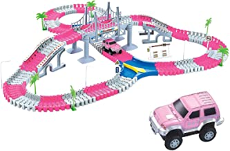 Liberty Imports 168 Pieces Create a Road Super Snap Speedway - Magic Journey Flexible Track Set - Ideal Gift Toy for Toddl...