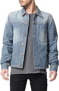 (ヌーディージーンズ) デニムジャケット メンズ RONNY ウォッシュ加工 S M ブルー