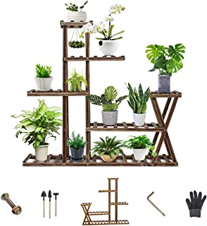 Anticorrosive flower stand Wooden plant stand Multilayer Simplicity bonsai stand Pest control Moisture-proof Solid wood (W...
