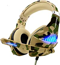 Gaming Headset for PS4 Xbox One PC, Beexcellent Deep Bass PS4 Headset with Noise Immunity Mic, LED Light, Friction-Reducti...