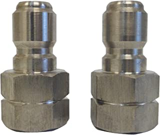 Ultimate Washer UW16-PW535E Female Nipple, Stainless Steel (2-pack), 3/8-Inch Female NPT, 5000 PSI