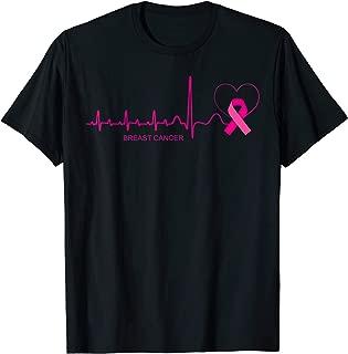 Breast Cancer Awareness Shirt Pink Ribbon Heartbeat Gift T-Shirt