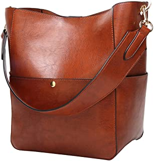 Molodo Women s Satchel Hobo Top Handle Tote Shoulder Purse Soft Leather  Crossbody Designer Handbag Big Capacity 4cb5e510605eb