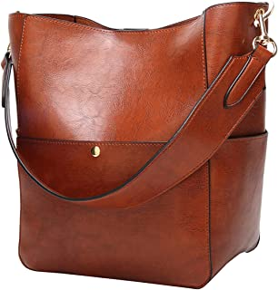 Women's Satchel Hobo Top Handle Tote Shoulder Purse Soft Leather Crossbody Designer Handbag Big Capacity Bucket Bags
